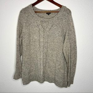 3/$30 torrid knit grey sweater size 0